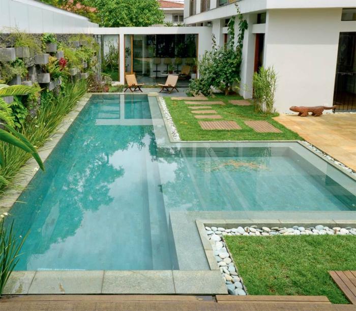 1001 ideas de piscinas peque as para tu patio for Formas para piscinas