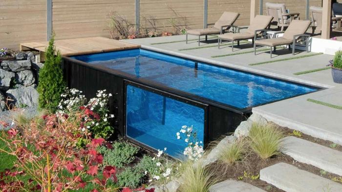 1001 ideas de piscinas peque as para tu patio - Piscina prefabricada pequena ...
