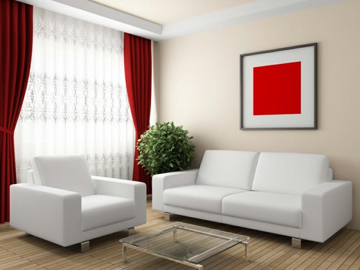 cortinas de salon, propuesta clasica en rojo borgoña con delicado y estilos visillo en blanco, estilo minimalista