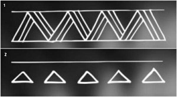 brazelete maori, símbolo de dientes de tiburón para tatuajes maori, variante complicada y simplificada