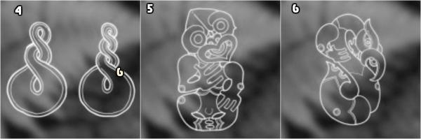 tatuaje maori, s'imbolos t'ipicos para tatuajes faciales maories, nudo triple, Hei Tiki y Manaia