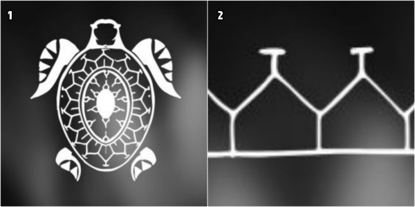tatuajes antebrazo, imagén de tortuga, simbolo polinesio, caparazón estilizado como parte del tatuaje