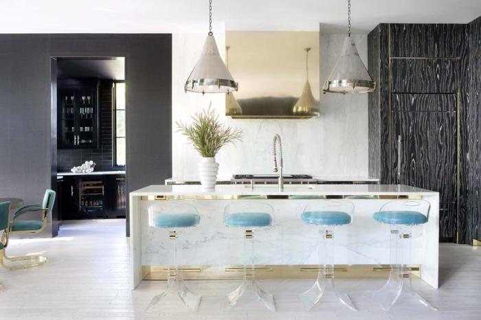 1001 ideas de decoraci n de cocina americana - Sillas barra americana ...