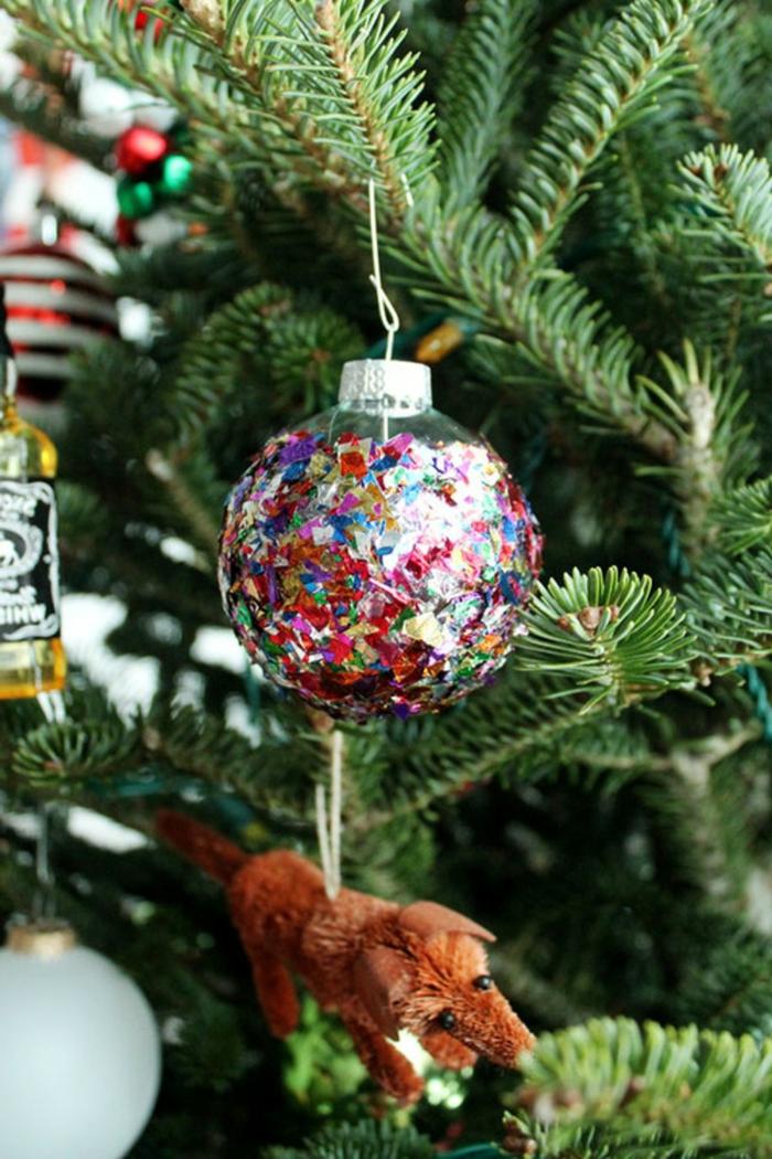 1001 ideas de bolas de navidad hechas a mano - Arboles de navidad colores ...