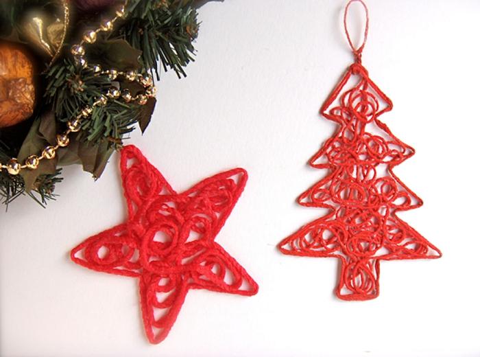 estrellas-navidad-preciosos-ornamentos-de-hilo-rojo-hechos-a-mano-en-forma-de-estrella-y-pino