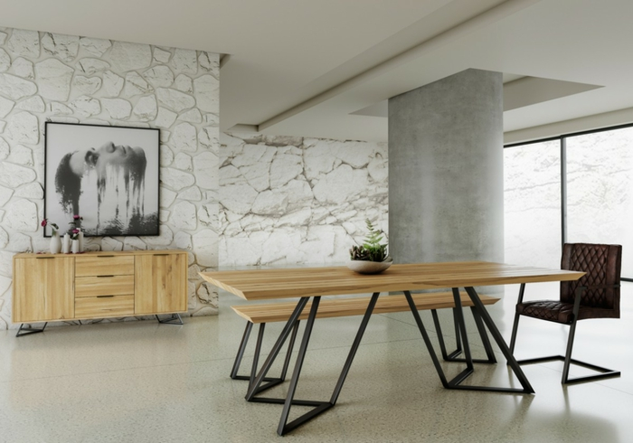 1001 ideas de comedores modernos seg n las ltimas for Mesas de comedor grandes de madera