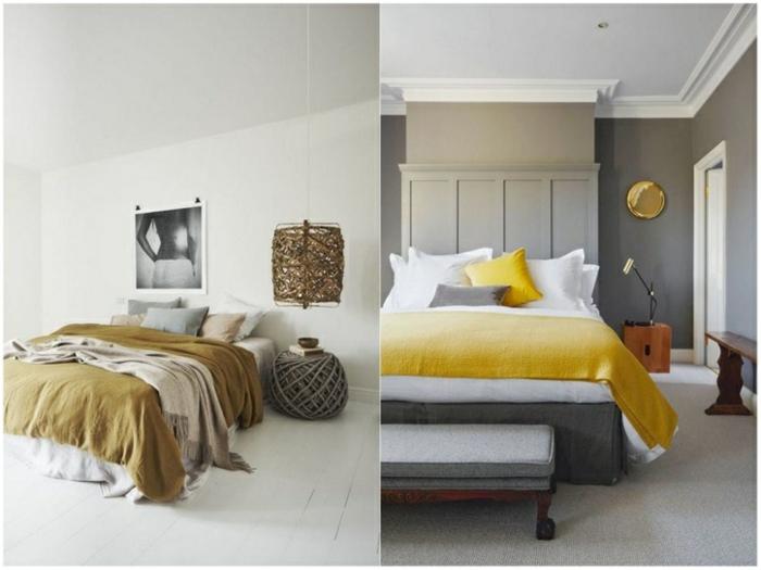 colores para habitaciones, propuestas en colores ocre y amarillo, ideas para habitaciones modernas 2018