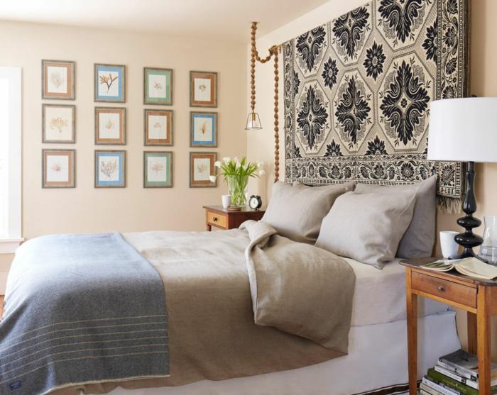 1001 ideas de cabeceros originales que pueden adornar tu habitaci n - Cuadros para cabeceros de cama ...