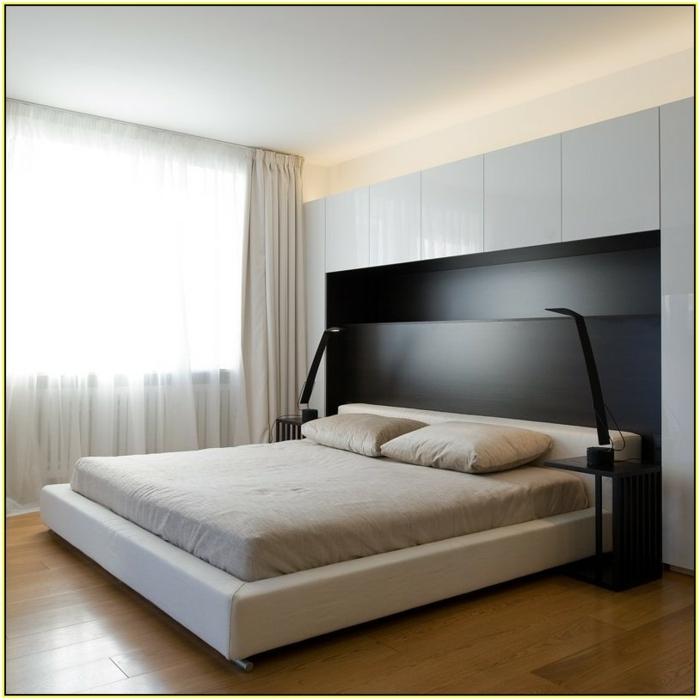 cabeceros de cama originales, cama empotrada, cabecero masivo de madera, dormitorio en estilo minimalista
