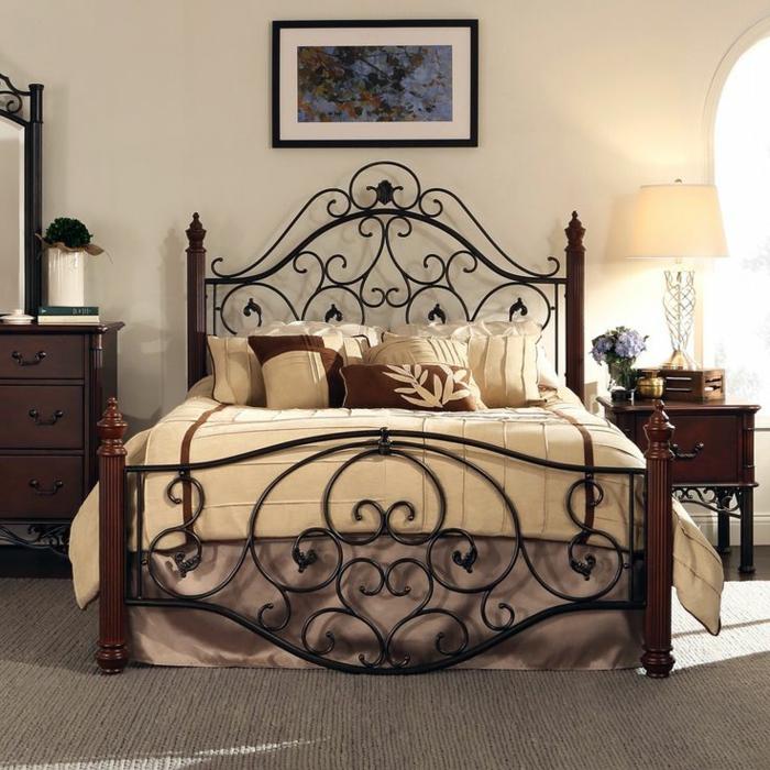 1001 ideas de cabeceros originales que pueden adornar tu habitaci n - Cabeceros de hierro ...