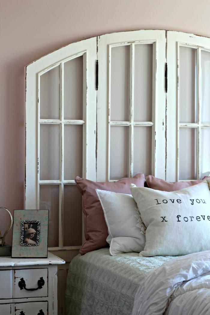 1001 ideas de cabeceros originales que pueden adornar tu - Cabeceros de madera blanco ...