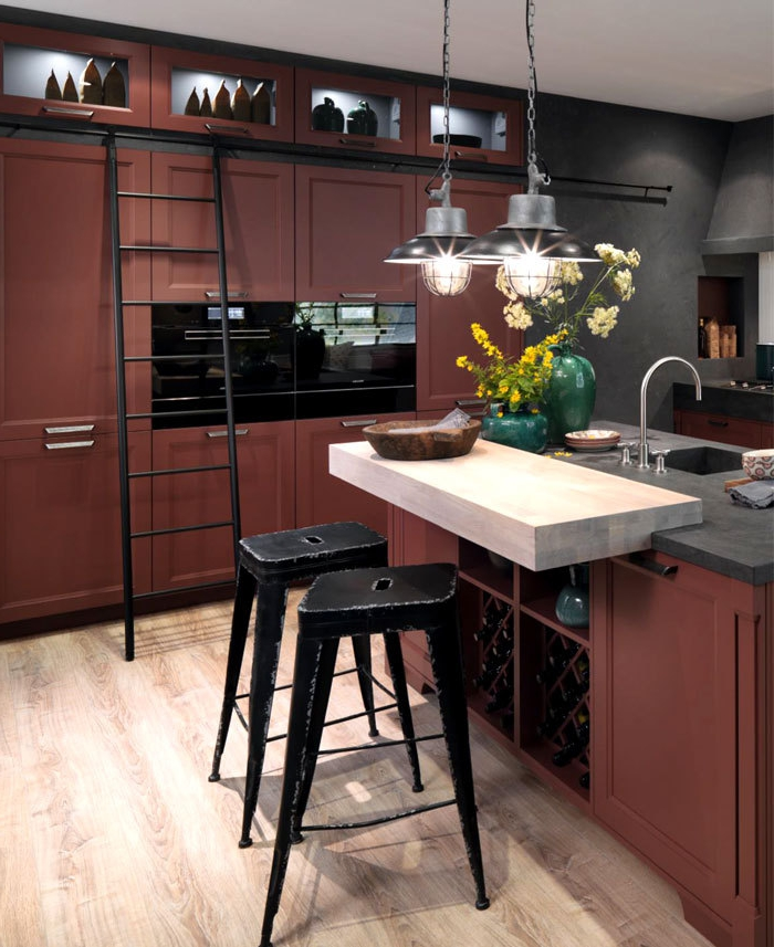 1001 ideas de decoraci n de cocina americana for Cocinas vintage modernas