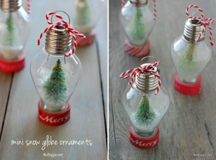 adornos de navidad caseros, ornamentos originales DIY, ideas para el árbol de Navidad, bombillas decoradas