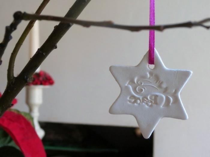 tipos de estrellas, colgante decorativo de arcilla en forma de estrella, manualidades con arcilla