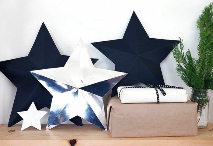 como hacer estrellas de papel, manualidades fáciles para navidad, estrellas tridimensionales que sirven de embalaje