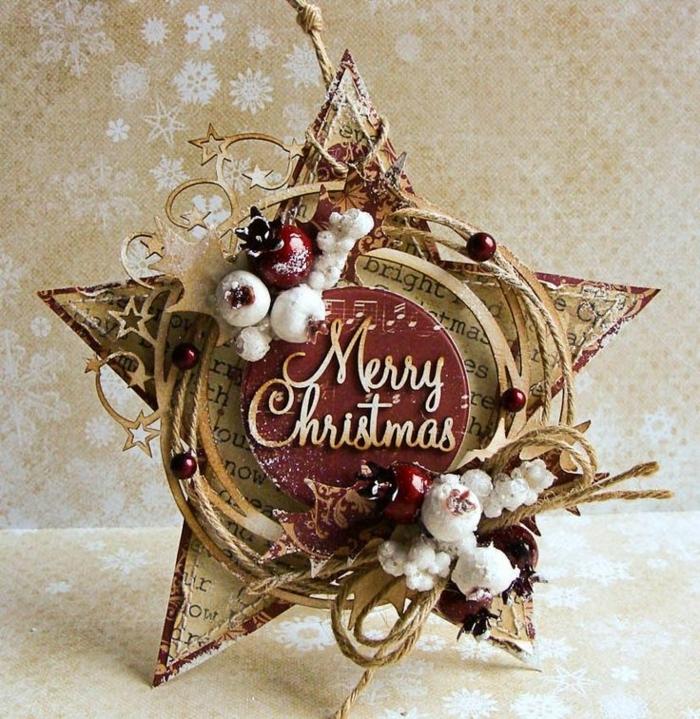 tipos de estrellas, adorno hecho a mano de materiales reciclados, estrella de papel de periódico, motivos navideños