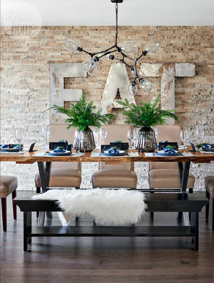 1001 ideas de decoraci n con pared de piedra o ladrillo for Decoracion para pared de ladrillos