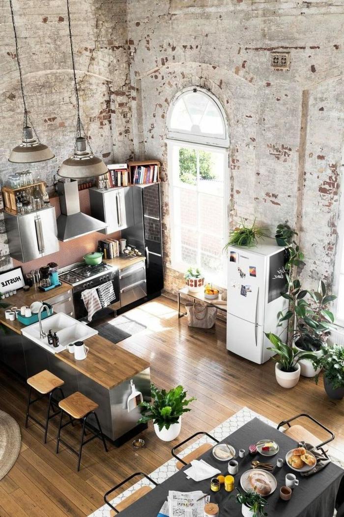 1001 ideas de decoraci n con pared de piedra o ladrillo - Fotos en la pared ...