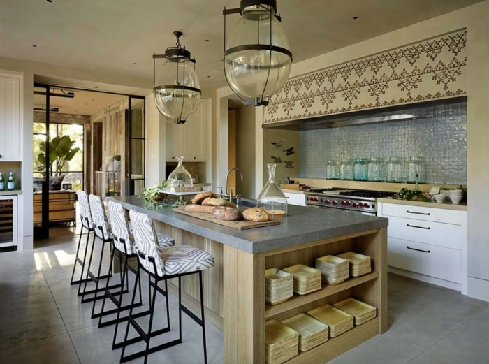 1001 ideas de decoraci n de cocina americana for Cocinas grandes