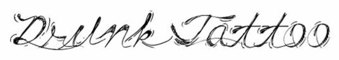 letras tatuajes, ejemplo de fuente para tatuajes, fuente cursivo con sombras, nombre drunk tattoo