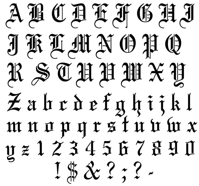 tatuajes mujer, idea de fuente para tatuaje con letras, signos y números, estilo inglés antiguo con adornos