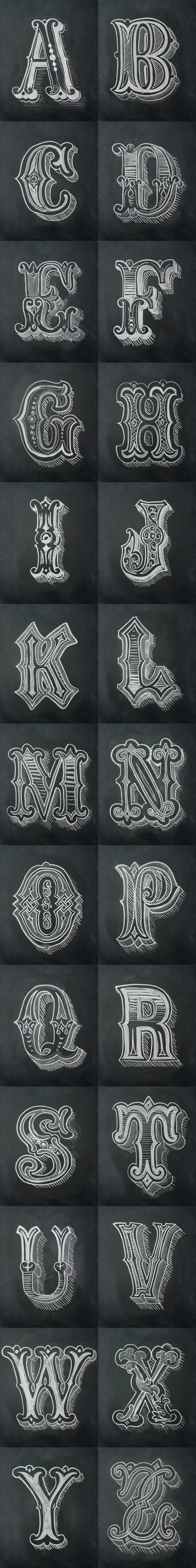 letras para tatuajes, fuente para tatuajes artística, todas las letras del alfabeto, plantilla para tatuaje en blanco y negro