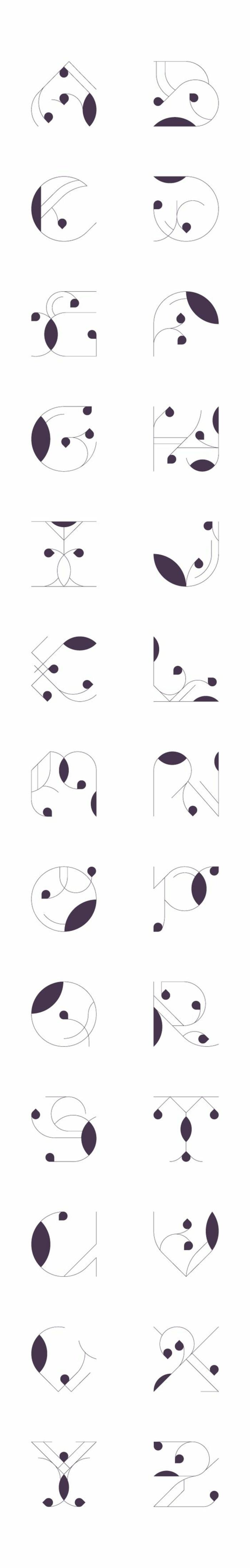 tatuajes frases, idea de fuente para tatuajes artística en blanco y negro, plantilla de todas las letras del alfabeto