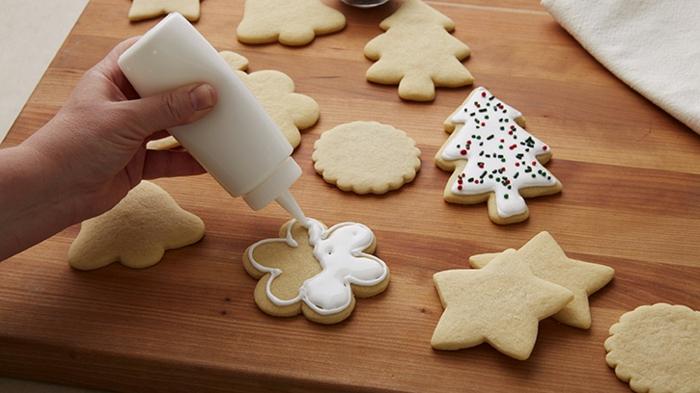 receta de galletas de mantequilla, como decorar las galletas de navidad con glaseado real paso a paso