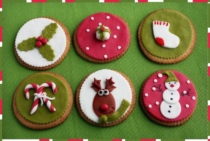 galletas de navidad, propuesta simpática y original, galletas de jengibre decoradas con glaseado en rojo, verde y blanco
