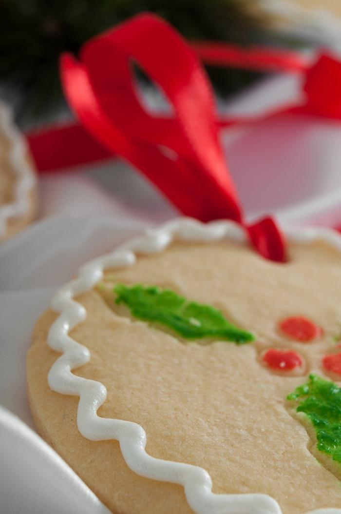 galletas navideñas, bonito ornamento para el árbol de navidad, galletas redondas con decoración de glaseado real