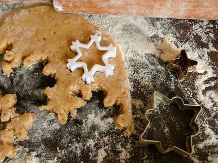 galletas de navidad, como preparar unas galletas decorativas en forma de copo de nieve paso a paso
