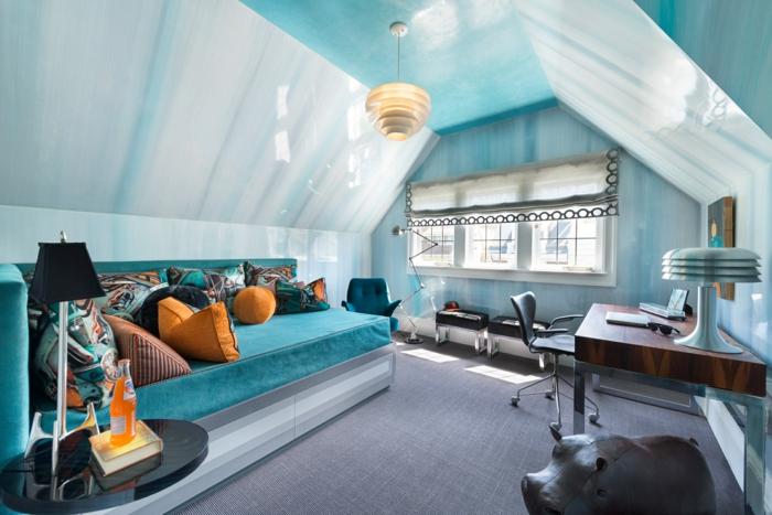 salones modernos, ejemplo de salon moderno con decoracion en estilo bohemio, cojines decorativos en colores terrosos y cálidos