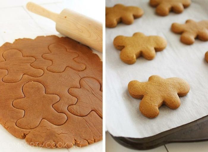 receta galletas de mantequilla, ideas fáciles para navidad, recetas de galletas clásicas de jengibre en forma de hombre