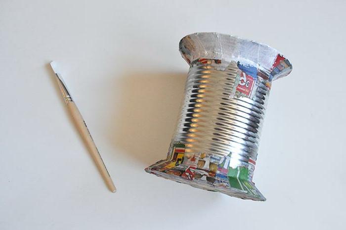1001 ideas de manualidades originales para decorar la casa - Como decorar una caja de metal ...