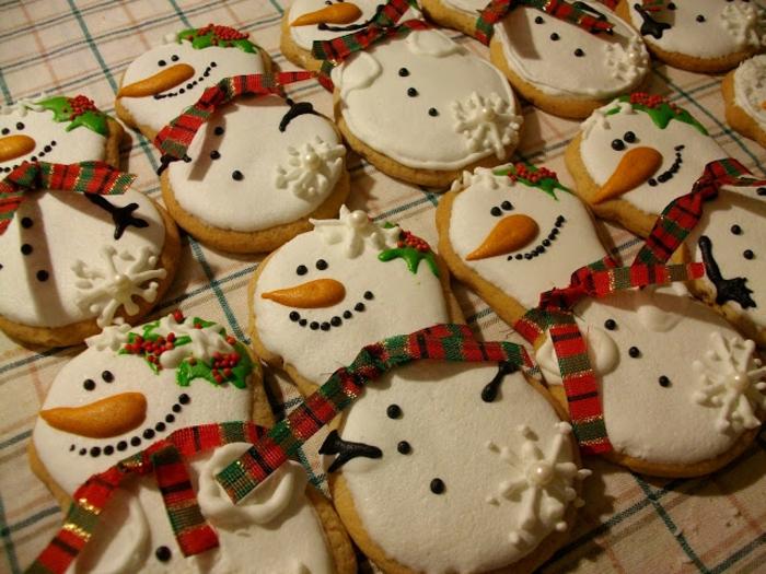 galletas de mantequilla receta, pequeños monigotes de nieve DIY, manualidades originales Navidad