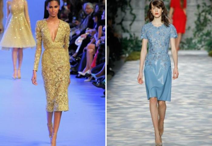 vestidos nochevieja, vestidos con motivos florales en tonos pastel, pelos sueltos, zapatos en tonos neutrales