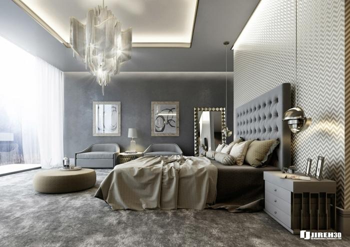1001 ideas de decoraci n de habitaciones modernas for Colores de paredes modernas