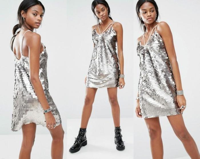 vestidos cortos de fiesta, vestido casual para las mujeres jóvenes, brillo en plana, correas finas