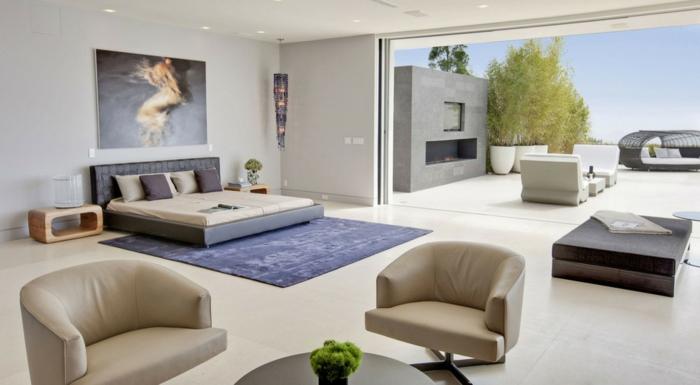 dormitorios modernos, propuesta encantadora de grande habitación multifuncional, muebles modernos, grande ventanal que da a la terrasa