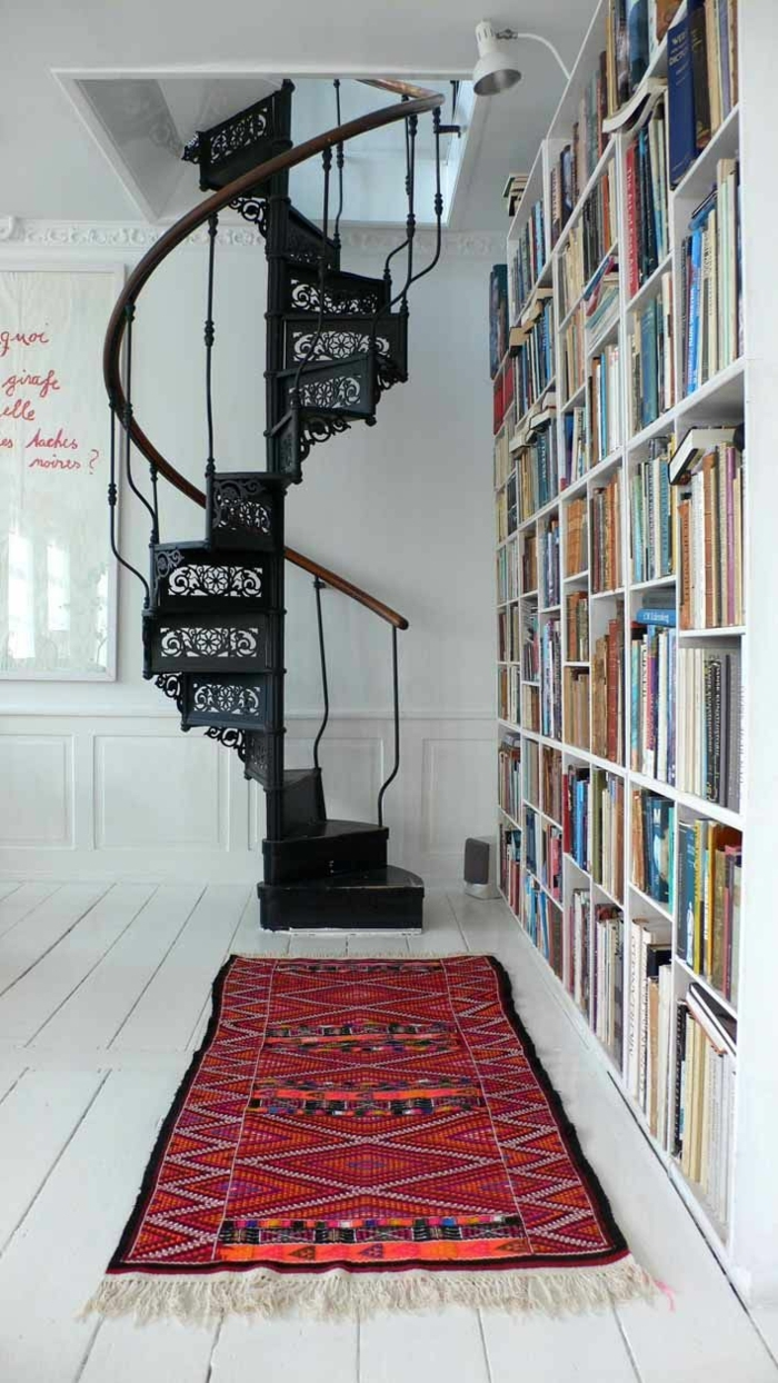 1001 ideas de originales escaleras de caracol con mucho for Escaleras de sala