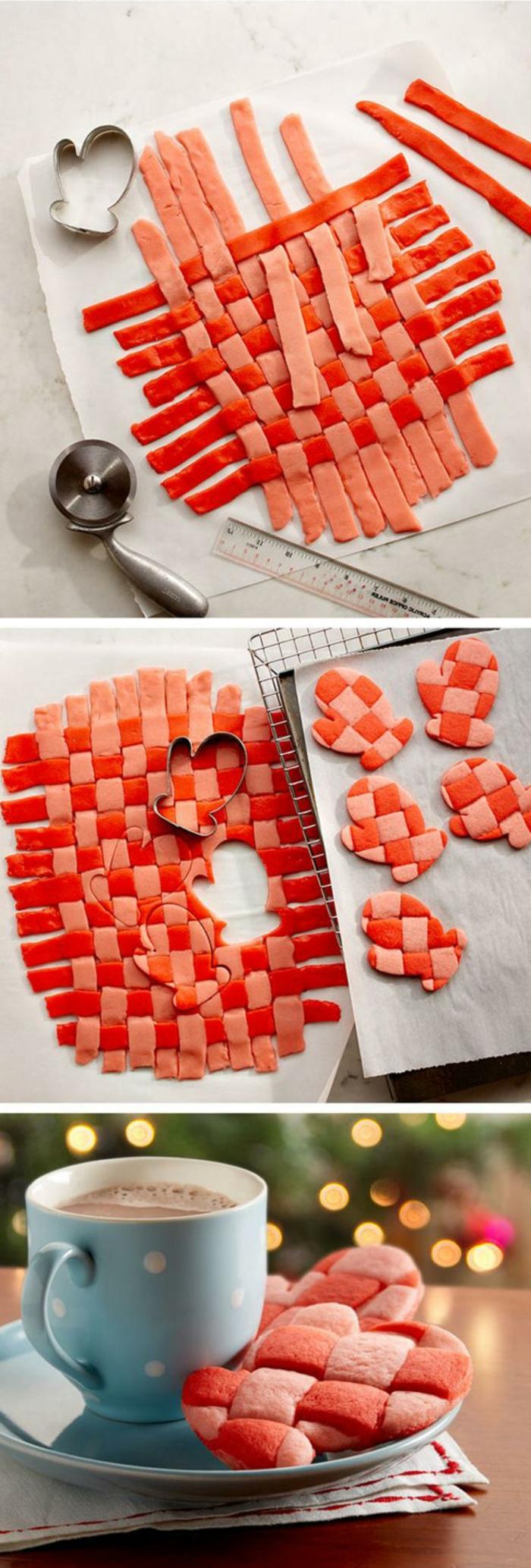 galletas de navidad, idea original y colorida. galletas con la forma de guantes en cuadrados