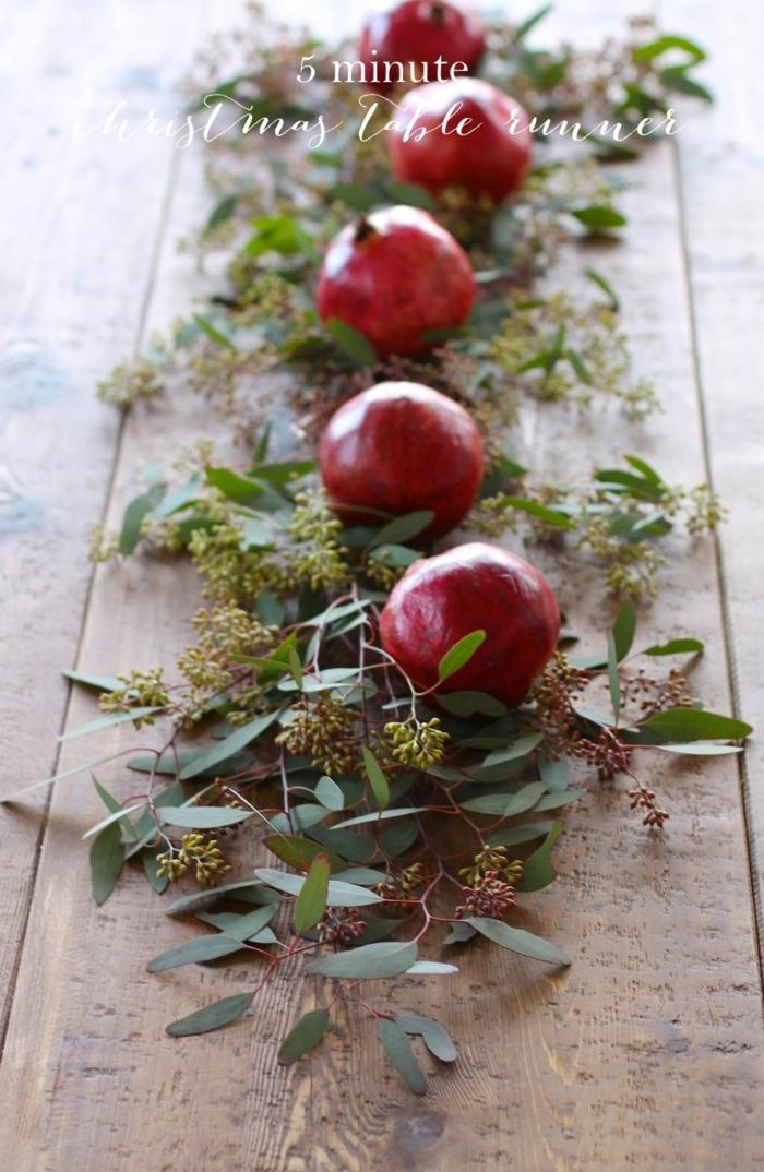 centro de mesa, decoración con materiales naturales, centro de mesa con manzanas, manualidades navidad fáciles de hacer