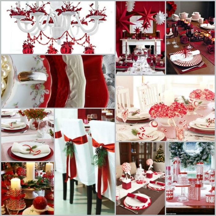 centro de mesa navideño, muchas propuestas de detalles navideños decorativos en color rojo, ideas de Navidad DIY