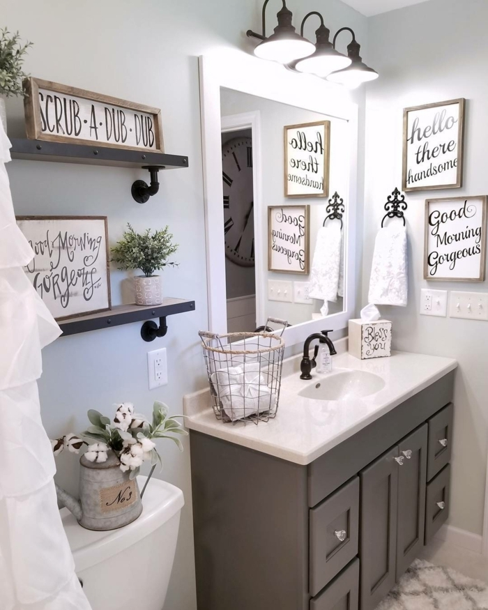 35 Best Rustic Home Decor Ideas And Designs For 2019: 1001 + Ideas De Cuadros Para Baños Modernos Con Estilo