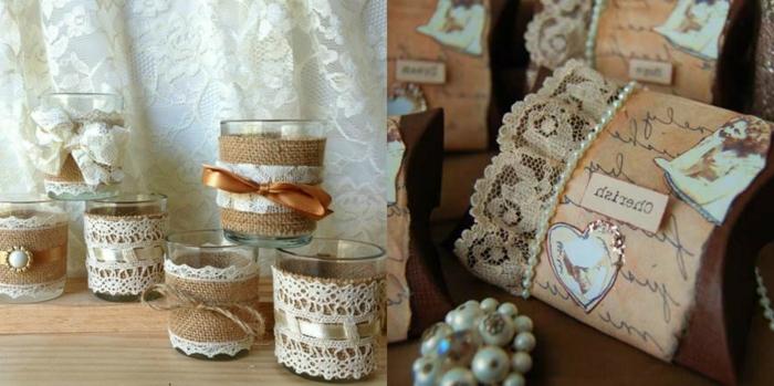 decoración vintage, ideas para decorar un interior en estilo vintage, manualidades con encaje, decoración bonita