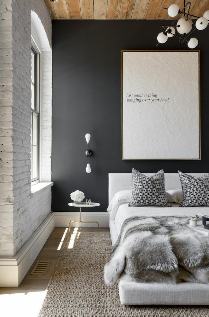1001 ideas de decoraci n de habitaciones modernas for Decoracion dormitorio gris
