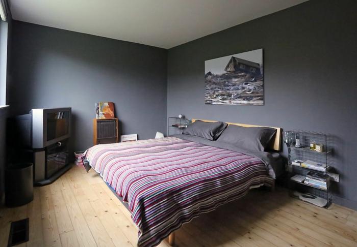 1001 ideas de decoraci n de habitaciones modernas for Dormitorio gris y rojo