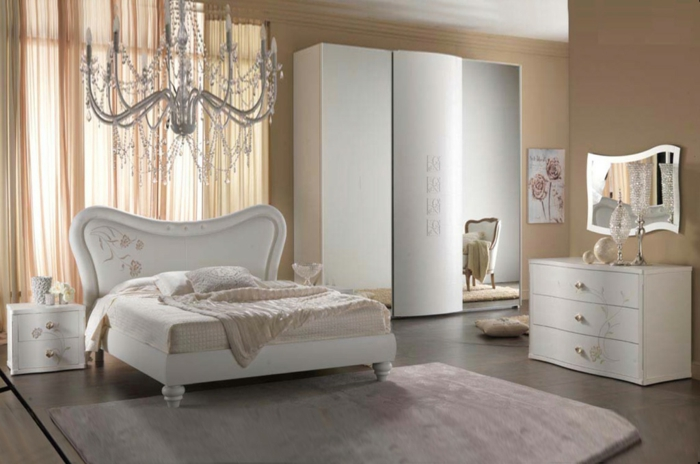 dormitorios matrimonio modernos, habitación moderna con elementos vintage, alfombra de lujo en color rosa