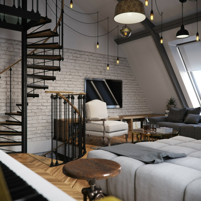 1001 ideas de originales escaleras de caracol con mucho estilo. Black Bedroom Furniture Sets. Home Design Ideas