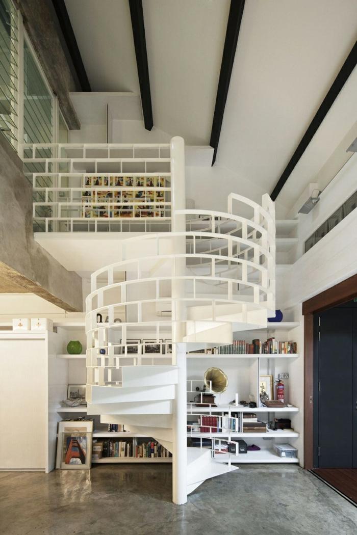 1001 ideas de originales escaleras de caracol con mucho - Fotos de escaleras modernas ...
